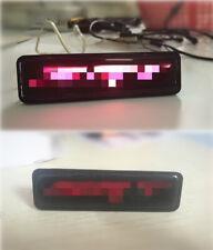 Fit For SRT Cars 1pc Front Grille Grill SRT Logo Emblem Badge with Red Led Light
