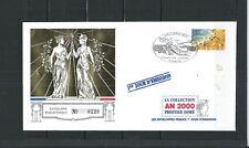 FRANCE  ENVELOPPE  1er JOUR  COLLECTION   2000  PRESTIGE  DORE