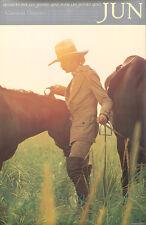 Original Vintage Poster Japanese French Fashion Jun Clothing Horses 1970s Haute
