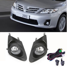 Fits 2011-2013 Toyota Corolla Clear Bumper Fog Lights Lamps+Cover +Switch Wiring