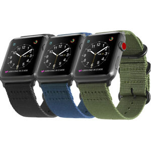For New iWatch Apple Watch SE Nylon Woven Band Strap Replacement 40mm 44mm