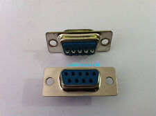 50pcs 9 Pin D-SUB Female DB9F Solder Type Connector DB9
