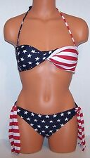 USA FLAG BANDO BIKINI - Small - AMERICAN SWIMSUIT - NEW 2 pc.  - STARS & STRIPES
