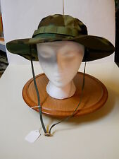 BOONIE HAT, WIDE BRIM WOODLAND JUNGLE, 50/50 NYCO RIP STOP, 7 3/4(XL)  NEW!