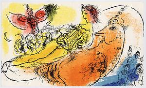 """Marc Chagall original lithograph """"L'Accordeoniste"""""""