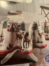"Better Homes & Gardens Christmas Heritage Holiday Deer Tablecloth 70"" Round"