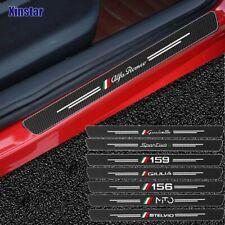 ALFA ROMEO 159  147 156  GIULIETTA  Carbonio 3D Adesivo Battitacco Protezione