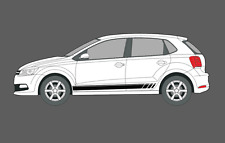 Volkswagen VW Polo MK5 (5 door) (6c) Side stripe Decal Stickers Set. GTI, Beats