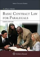 Basic Contract Law for Paralegals: By Helewitz, Jeffrey A.