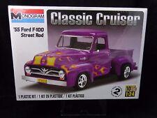 Monogram 1955 Ford F-100 Street Rod Classic Cruiser Plastic Model Kit  NEW 1:24