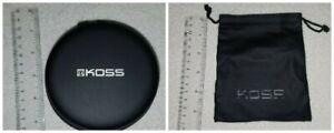 Genuine Koss Porta Pro Headphones Storage Hard Cases and Drawstring Pouches