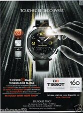 Publicité advertising 2013 La Montre Tissot T-Race Touch