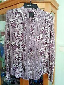 BNWT~Scotch & Soda Ladies Shirt ~ Maison Scotch ~ Elephant Print R.R.P. $149.95