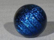 """Marbles: Hand Made Art Glass J Alloway Dichroic """"Stardust"""" #507    1.32inch"""