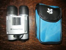 National Trust Binoculars. Never Used. Blue Case and Cleaning Cloth