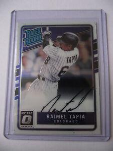 2017 Panini Donruss - Optic Rated Rookies Raimel Tapia Autograph Trading Card