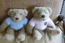 Deux ours nounours Lulu Castagnette bleu et rose
