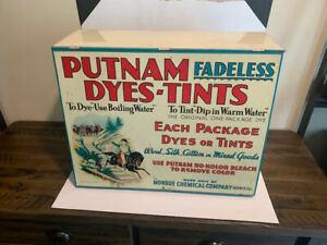 Great Vintage Putnam Dye Metal/Tin Store Display Countertop Cabinet Advertising