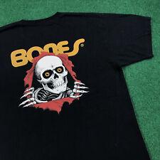 Powell Peralta Bones Brigade Skateboard T Shirt Tee Skeleton Skull Skate Mens M