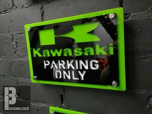 *Premium*  XL Kawasaki acrylic Wall Sign Man Cave Garage Motorcycle Off Road