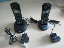 BT Everyday Twin Cordless Phones, black
