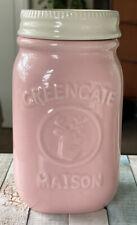 GreenGate Ceramic Maison Jar Pink 500ltr - New - 15.5cm Tall