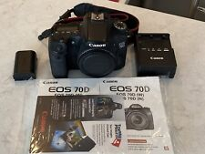 Canon EOS 70D 20.2MP Digital SLR Camera - Black (Body Only) / GREAT CONDITION