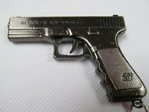COLLECTABLE SOLID GREY METAL GLOCK REPLICA PISTOL GUN KEYRING KEY CHAIN UK SELL