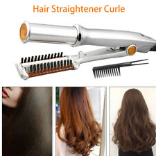 Instyle Professional 2-Way Rotating Curling Iron Hair Brush Curler Straightener
