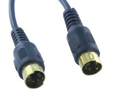 12 ft Feet S-Video 4 Pin Male to Male Cord Cable Gold Plated For DVD HDTV