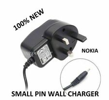 NEW NOKIA C1-01 C2-01 C3-01 UK MAINS WALL CHARGER FOR MOBILE PHONE(SMALL PIN)