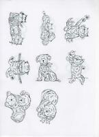 Creative Expressions Pre-Cut Rubber Stamps PETS DOGS CATS Collection *