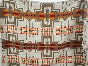 Pendleton Red & Orange Pattern Wool Blanket