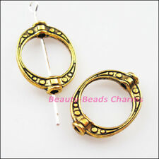 8 New Charms Oval Dots Spacer Frame Beads 14.5x19.5mm Antiqued Gold Tone