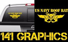 US Navy Roof Rat Aircraft Carrier Flight Deck Crew Veteran Car Decal Sticker