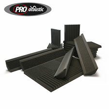 AFHS Pro Acoustic Foam Home Studio Kit 24 tiles & 4 Bass Traps Room Treatment