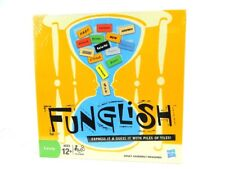 Funglish Family Board Game Express It & Guess It with Piles of Tiles New sealed