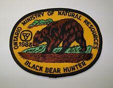 1983 ONTARIO MNR BEAR HUNTING PATCH moose,deer,elk,hunter,canadian,patches,badge