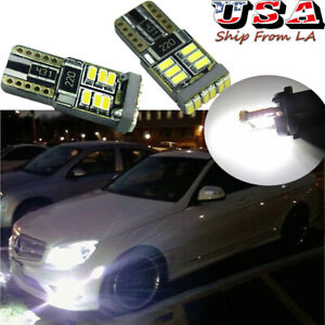 T10 2825 LED 6000K Sidemarker Light Bulbs for Mercedes W204 C250 C300 C63 AMG