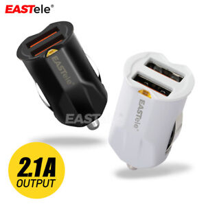 EASTele Dual Port Mini USB Car Charger Adapter for Apple iPhone 11 Pro Samsung