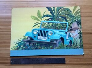 Original Artist Rendering - AMC Jeep CJ-5  - Unique!