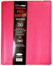 Premium pro viga reticulada Pink-ultra pro 9-Pocket-trading Card Album rosa