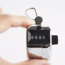 0000to9999 Handy 4 Digits Metal Tally Number Golf Test Lap Hand Tally Counter