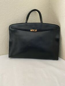 Furla Black Cross-Grain Leather Tote Handbag