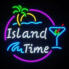 "Island Time Beer Neon Sign Display Store Beer Bar Pub Handcraft Light24""X20"""