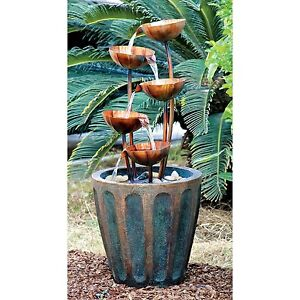 "SS5312 - ""Copper Falls"" Cascading Garden Fountain w/Pump!"