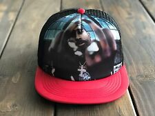 Trucker Hat SnapBack Tupac 2Pac Makaveli Adjustable Strap Tri Color RED/BLACK