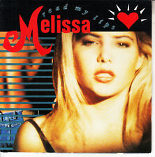 "MELISSA  Read My Lips PICTURE SLEEVE 7"" 45 vinyl record + juke box title strip"