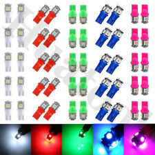 50X Blue Green Red 5SMD LED T10 Wedge Interior Light bulbs W5W 2825 158 168 194