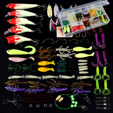 100Pcs/Set Fishing Lures Kit with Mixed Hard Lures and Soft Baits Minnow Lures